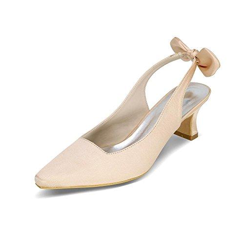 LEI&LI Scarpe fiocco raso tacco a spillo punta Toe pompe/tacchi matrimonio scarpe più colori donne disponibili Purple
