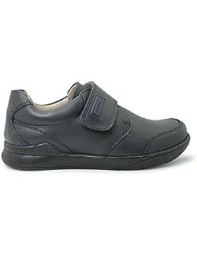 BIOMECANICS - Zapato colegial de niño con velcro y puntera reforzada - NEGRO - 161129