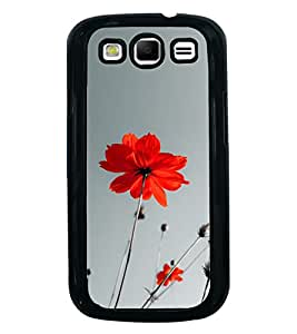 Printvisa Ultra Red Flower 2D Hard Polycarbonate Designer Back Case Cover for Samsung Galaxy ...