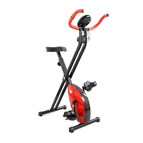 We R Sports Folding Magnetic Exercise Bike X-Bike Fitness Cardio Workout Weight Loss Machine - Red