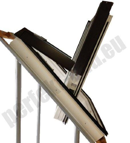 AFG Schweiz Skylight Kunststoff Dachfenster PVC 78 x 118 mit Eindeckrahmen für Dachziegel Außenfarbe Dunkelbraun Schwingfenster Dachflächenfenster