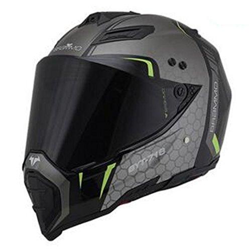 Harleeyr Full Face Helm Novedot Genehmigt Motorrad Straße Männer und Frauen neuartigen Stil und zuverlässig Black visor3 XXL