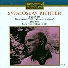Svjatoslav Richter - Schubert : Piano Sonata no. 21, Moments Musicaux, Brahms : Piano Pieces OP. 118 / nos. 1,3,6 - Melodiya / Eurodisc