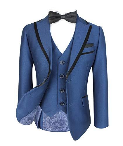 SIRRI RM 315 Flamingo Boys Italienisches Design Slim Fit Karierter Anzuge Hochzeit Formelles Outfit 7 Jahre