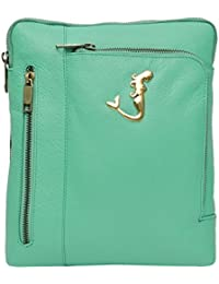 Hawai Sea Green Leather Sling Bag