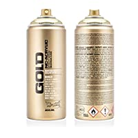 Montana Cans 285943 Spray Can 400 ml, GLD400, M3000, Gold Chrome