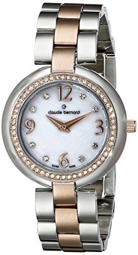 Claude Bernard MFG Women's 32mm Two Tone Steel Bracelet Steel Case Swiss Quartz Watch 20082 357R NAP