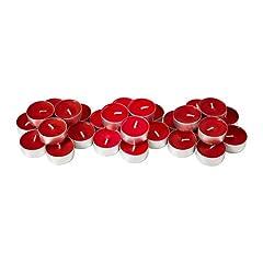Idea Regalo - Ikea Sinnlig Candeline Profumate, Alluminio/Paraffina/Cera Vegetale, Rosso, 20x12x3 cm, 30 unità