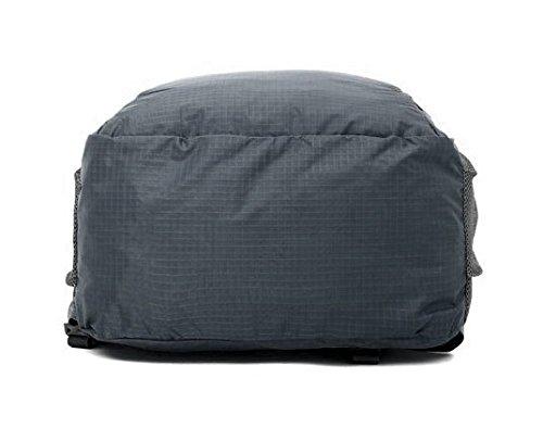 FakeFace Rucksack Faltrucksack Wanderrucksack Reiserucksack Daypack Picknickrucksäcke Wasserdicht Tasche Tragetasche für Outdoor Grau