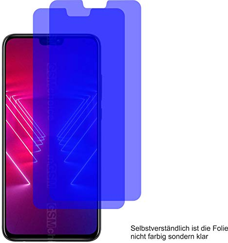 2X ANTIREFLEX matt Schutzfolie für Huawei Honor View 10 Lite Displayschutzfolie Bildschirmschutzfolie Schutzhülle Displayschutz Displayfolie Folie