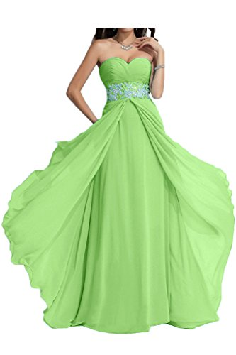 ivyd ressing Damen Exquisite Scollo a Cuore a linea di pietre Fest vestito lungo abito del partito Prom Dress abito da sera Verde