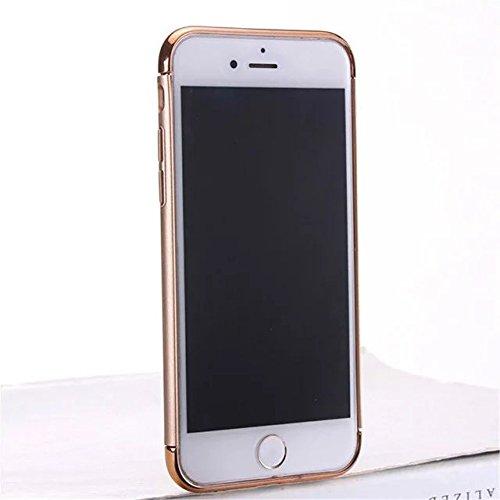 iPhone 7 Coque,Lantier Ultra Thin Luxury Heavy Duty 3 en 1 anti rayures anti empreintes digitales antichoc Armure PC Cover avec anneau Béquille Small Circle pour iPhone 7 4.7 pouces d'or Golden