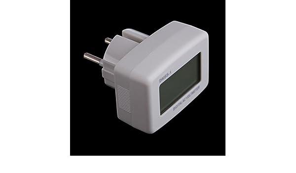 Blue LCD Volt Mete AC 80-300V For 110v 120v 220v 230v 240v European Style Plug