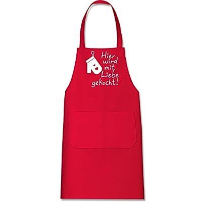 Shirtracer Küche - Hier wird mit Liebe gekocht - Kochschürze mit Tasche