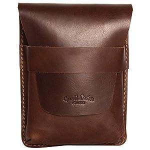 41FuqkbBjmL. SS300  - Estuche lapicero de cuero marrón Vintage
