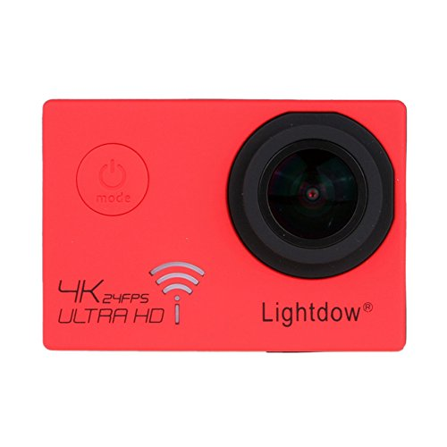 Lightdow Real 4K 12.40M Pixel High Speed Wi-Fi Sports & Action Camera [ DSP Chip NOVATEK NT96660 + SONY IMX117CQT COMS Sensor + 170° Wide Angle Lens ] (Red)