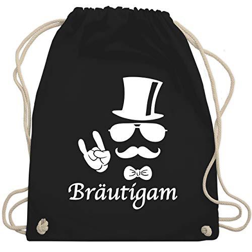 JGA Junggesellenabschied - Bräutigam Hipster Suit up Weiss - Unisize - Schwarz - WM110 - Turnbeutel & Gym Bag
