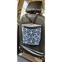 Alment Car Trash Garbage Bin Adjustable Leak Proof Waterproof Bag/Car Trash Bag/Car Accessory Holder- (Blue)