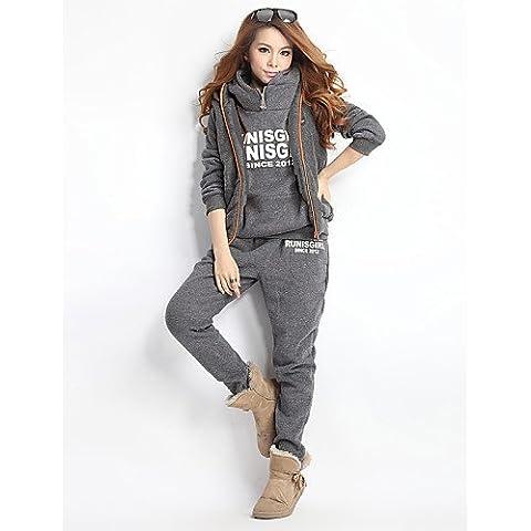JY$ZB solido giacca felpa con cappuccio casuale colore e pantaloni
