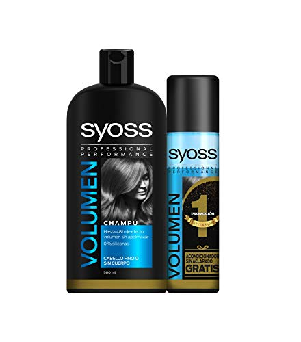 Syoss - Champú 500ml + Acondicionador Volumen 500ml