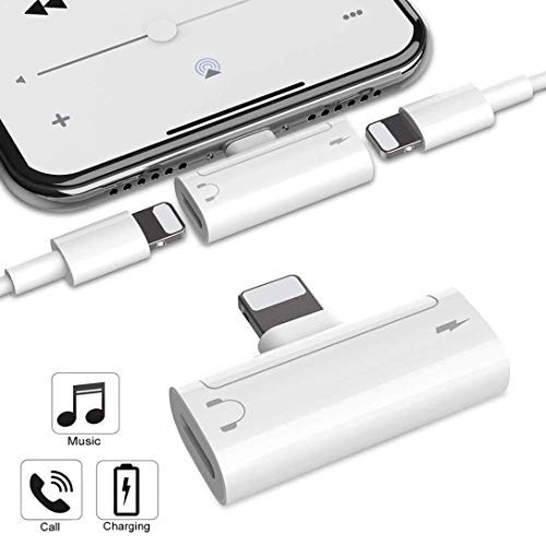 Adattatore per iPhone Adattatore per iPhone 7 Adattatore per iPhone X/XS/XR/8/8Plus/7Plus [Controllo volume audio] Supporto per convertitore di mini cuffie accessorio per tutti i dispositivi iOS