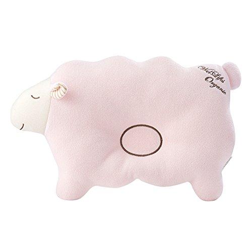 bebe-taie-doreiller-pour-nouveau-ne-en-coton-bio-de-protection-pour-tete-plate-syndrome-lamb-pink