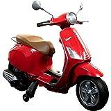 Pentagon Sports Kinderroller Vespa Primavera 6V Kinder Scooter Piaggio Elektro ab 3 Fahrzeug (rot)