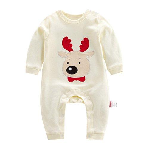 Weihnachten Baby Strampler Baumwoll Overall - hibote Xams Mädchen Jungen Schlafanzug Pyjamas Unisex Kleinkind Outfits Kleidung set 0-3 (12 Alte Halloween Kostüme 9 Uk Monate)