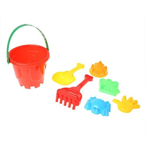 Guoyy 7 Stücke Sand Strand Spielzeug Eimer Spaten Schaufel Rake Düne Wasser Werkzeuge Set Für Kinder