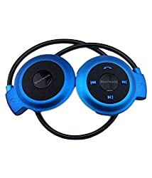 Defloc Mini s503 Over Ear Wireless Headphones With Mic Blue