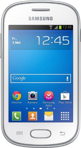 Samsung Galaxy Fame Lite Smartphone (8,9 cm (3,5 Zoll) TFT-Display, 850 MHz Single-Core, 512MB RAM, 3.2 Megapixel Kamera, 4GB interne Speicher, USB 2.0, Android 4.1) pearl-white - Fame Handy Samsung