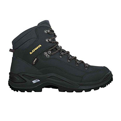 Lowa Renegade GTX Mid, Chaussures de Randonnée Hautes Hommes Noir (Anthrazit/senf 9748)