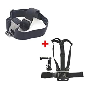 Adjustable Head Strap Mount & Chest Mount Harness for GoPro HD Hero Hero2 Hero3 Hero3+