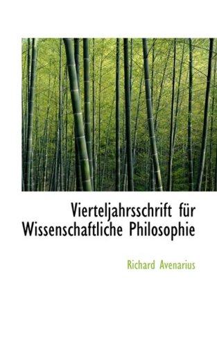 Vierteljahrsschrift für Wissenschaftliche Philosophie