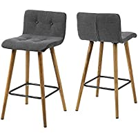 AC Design Furniture, 60492, Set di 2 sgabelli alti Charlotte, Grigio (Grau) - Arredamento - Confronta prezzi