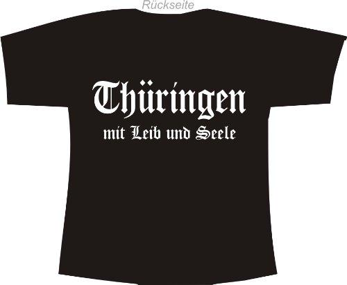 Thüringen mit Leib und Seele; Polo T-Shirt schwarz