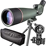 20-60X 80 Prism Spotting Scope- Waterproof Scope for Birdwatching Target Shooting Archery Outdoor