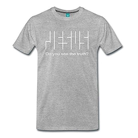 Jesus Wahrheit Glaube Christlich Do You See The Truth Männer Premium T-Shirt von Spreadshirt®, XL, Grau meliert