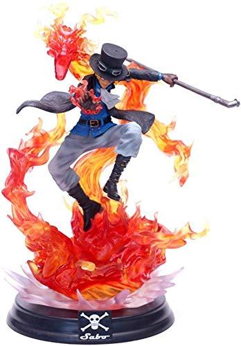 Christ For Givek Anime One Piece Figur , Gk Sabo Figur Statue Action Sammlerstück PVC Figur Cartoon Spielzeug für Anime Manga Fans Heimbüro Dekor 13inch