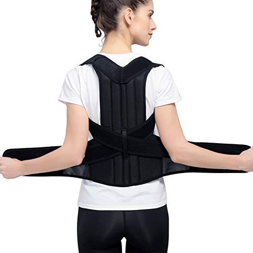 HailiCare Haltungskorrektur Geradehalter Schulter, Rücken Haltungstrainer mit verstellbare Bandage Rückenstütze für Damen und Herren, gegen Nacken und Schulterschmerzen- M Größe (Taille 29''-35'') -