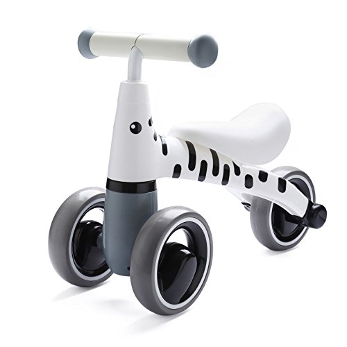 BEKILOLE Baby Sliding Bike Ride On Toy Bikes Bicycle Children No Foot Pedal Three Wheels, Toddlers 1 to 3 Years, Zebra