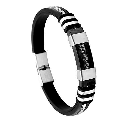 QinMM Männer galvanisiert Schlange geflochtenes Armband - mit Legierung Magnetverschluss Handgemachten Schmuck für Männer Geschenk (Knöchel Armbänder String)