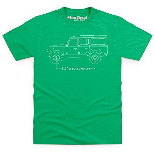 110 Inches of Pure Pleasure T-Shirt, Herren Keltisch-Grn