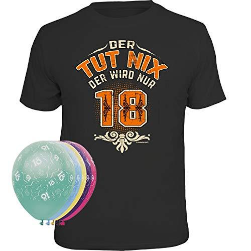 Unbekannt T-Shirt + 5 Luftballons (Der TUT nix der Wird nur 18, XXXL) (Preis Der Luftballons)