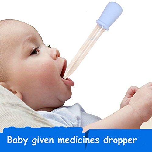 Baby aspiratore nasale Toddler silicone plastica medicina alimentazione liquido pipetta in Ear Baby dato farmaci Feeding Nipple aspiratore nasale, blu
