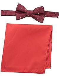 Nick Graham Men's Micro Diamond Bow Tie with Pocket Square
