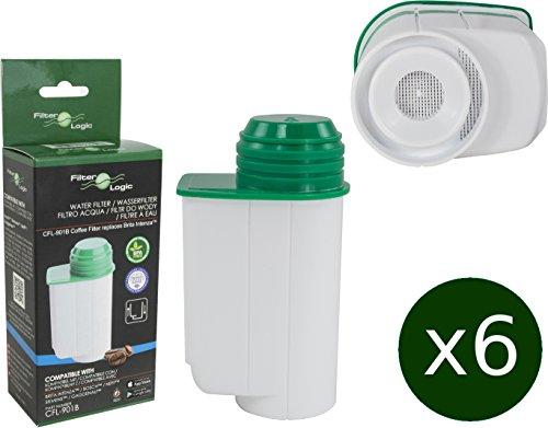 6 x FilterLogic CFL-901B cartuccia filtrante compatibile con BRITA Intenza TCZ7003 - TZ70003 - TCZ7033 (Bosch Serie 700)