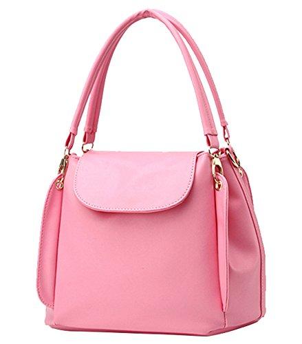 MissFox Elegante Da Donna Borsa A Tracolla Totes Borsa Multi Tasca Pink