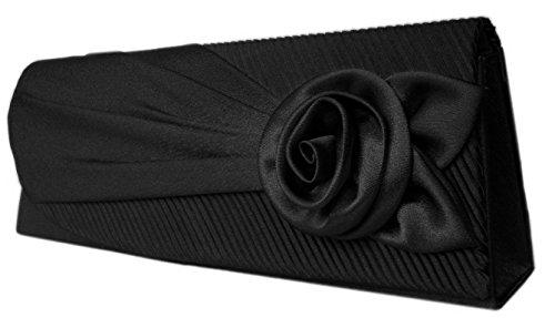 Damen Abendtasche,Mädchen Handtaschen Clutch,27x10 cm,Schwarz