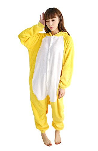 Frauen Löwe Kostüm Halloween (Keral Frau Pokemon Schlafanzug Erwachsene Anime Cosplay Halloween Kostüm Größe XL Gelb)